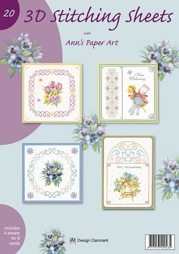3D Stitching sheets - Ann`s paper art