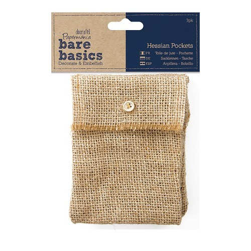 Hessian pockets - Papermania